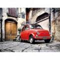 Puzzle coche Fiat 500 Rojo de 500 piezas Italia