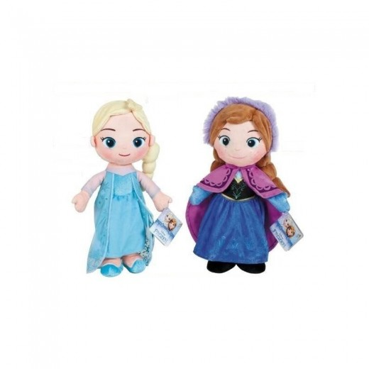 PELUCHE de las chicas de Frozen Elsa o Anna 25CM FROZEN 1 unidad