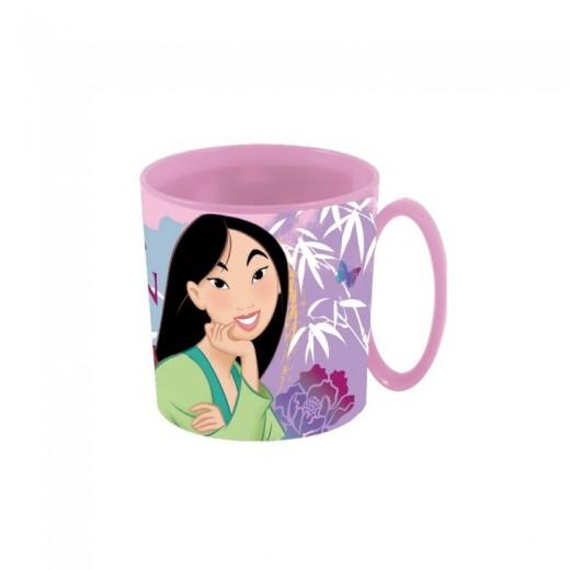Taza de Mulan con asa rosa especial para Microondas infantil