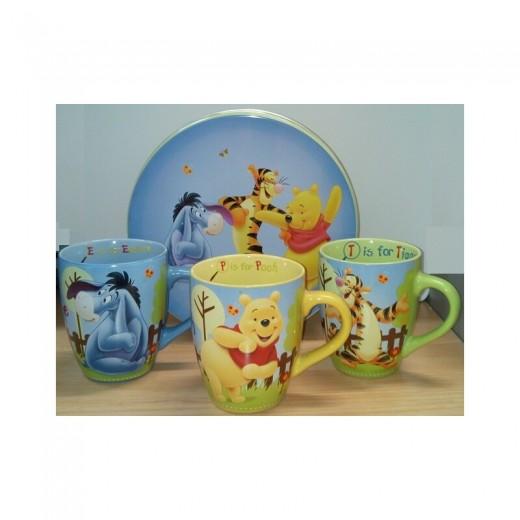 Colección tazas de winnie the pooh en caja metálica edición coleccionista