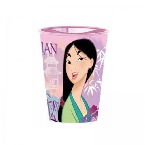 Vaso de Mulan para niños 260ml de plastico de la pelicula dibujos