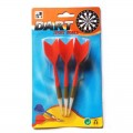 Dardos con punta de plástico para diana Dardos Reemplazables de color Rojo