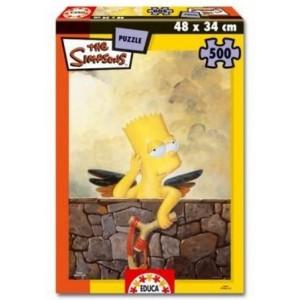 Puzzle de los Simpsons 500 piezas Bart Simpson Angel mediano