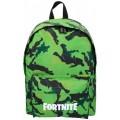 Mochila camuflaje verde de Fortnite escolar para colegio baile 43 cm
