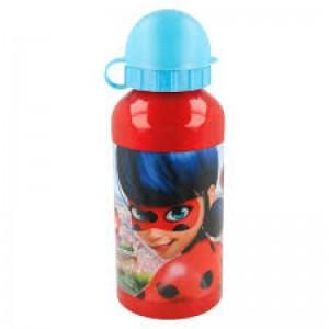 Botella de aluminio de Ladybyg roja y azul metalica para gua 500 ml