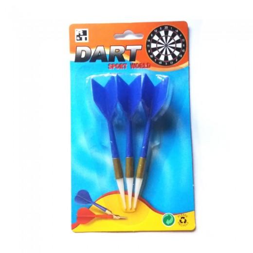 Dardos con punta de plastico para diana Dardos Reemplazables color Azul