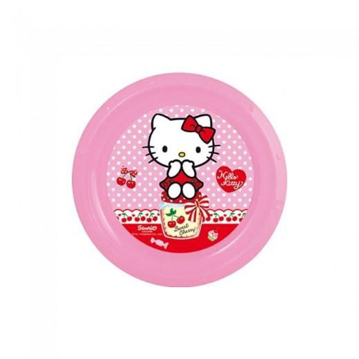 Plato rHello Kitty Sweet Cherry rosa de plastico 22 cm