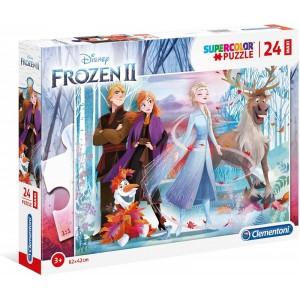 Puzzle doble de Frozen II de Anna y elsa 24 Piezas grandes