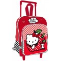 Mochila con carro de Hello Kitty infantil mediana 39 cm
