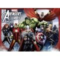 4 Puzzles de los personajes de Vengadores dibujos 100 piezas cada 1 Avengers