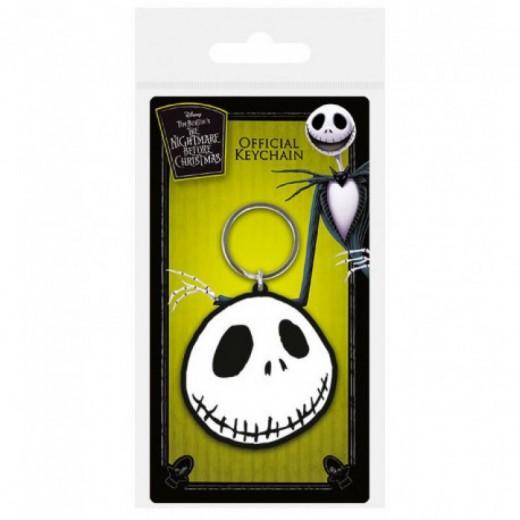 Llavero de Jack Pesadilla Antes de Navidad esqueleto en goma cara Jack