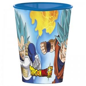 Vaso de Dragon Ball 260 ml azul son goky y vegeta En Dragon BAll Super