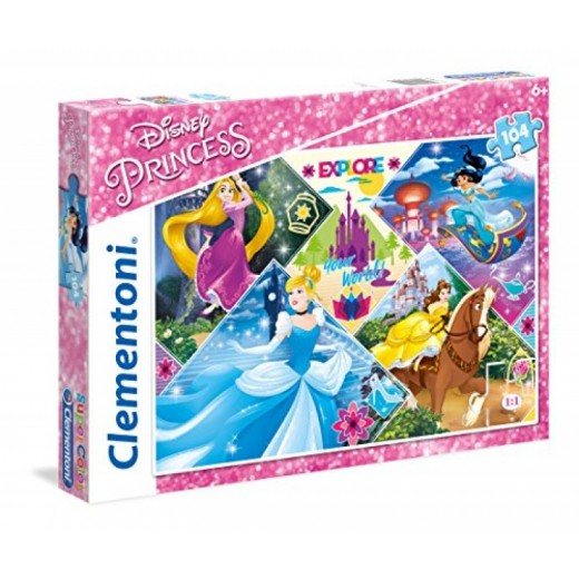 Puzzle 104 piezas de las princesas Disney