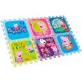Alfombra goma EVA de Peppa Pig 90x60 cm 6 piezas puzzle para suelo