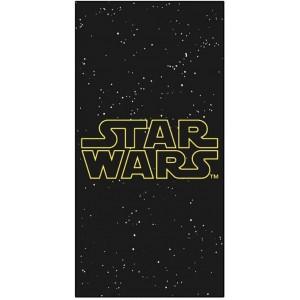 Toalla de Star Wars secado rapida y suave con letras de Star Wars negra