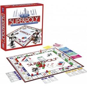 Juego de mesa Superpoly De Luxe juego de finanzas tipo monopoly compra y vende
