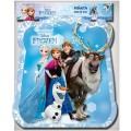 Piñata de Frozen Elsa y Anna olaf para cumpleaños 28x33 con tiras Azul