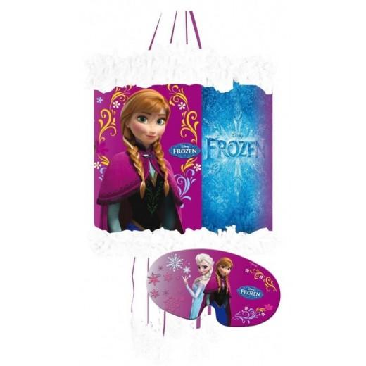 Piñata con antifaz de Frozen Elsa y Anna para cumpleaños 20X30 cm