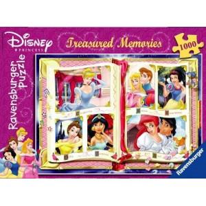 Puzzle de Princesas Disney Cenicienta Aurora blanca nieves sirenita 1000 piezas