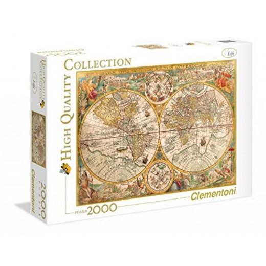 PUzzle de mapa del mundo antiguo de 2000 piezas 97,5x66,8cm