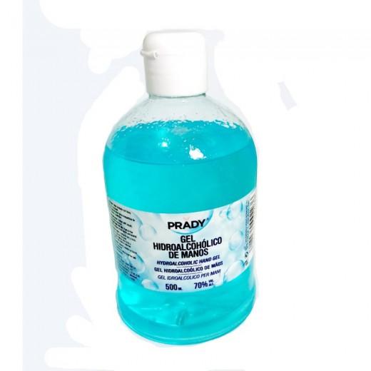 Botella de Gel hidroalcohólico de manos desinfectante 500ml 70% alcohol COVID 19