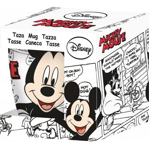 TAZA de cerámica Mickey Mouse en caja con asa modelo comic edición limitada