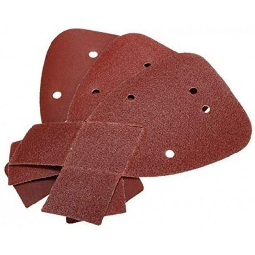 5 Papel de lija para lijadora mouse triangular grano 120 95cm todos materiales