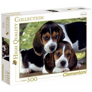 Puzzle de 500 piezas de perritos Beagles juntos cachorros