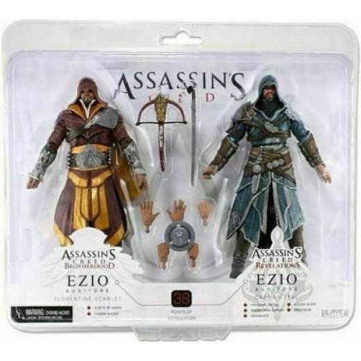 Figuras Assasins Creed EZIO Florentine Scarlet y Caspian Teal 18 cm