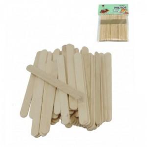 50 Palitos de madera pequeños para manualidades y educación 11,4cm