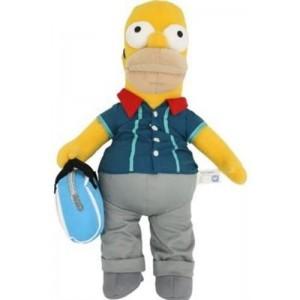 Peluche de Homer simpson con ropa y bolsa de Bolera bolos 31 cm Grande Simpsons
