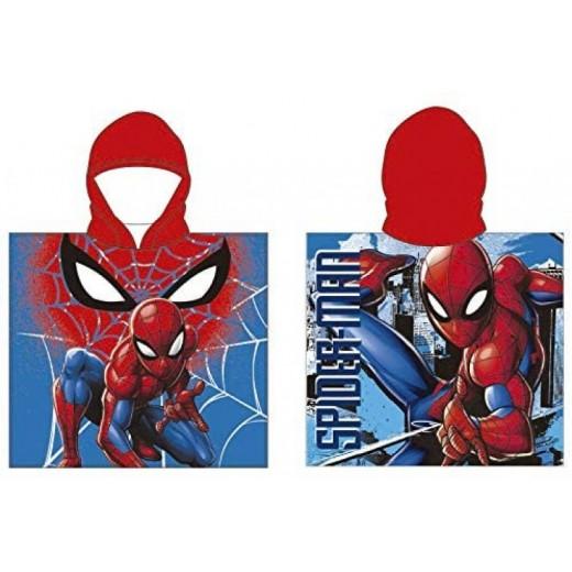 poncho toalla de Spiderman secado rápido Spider-man 55x110 cm
