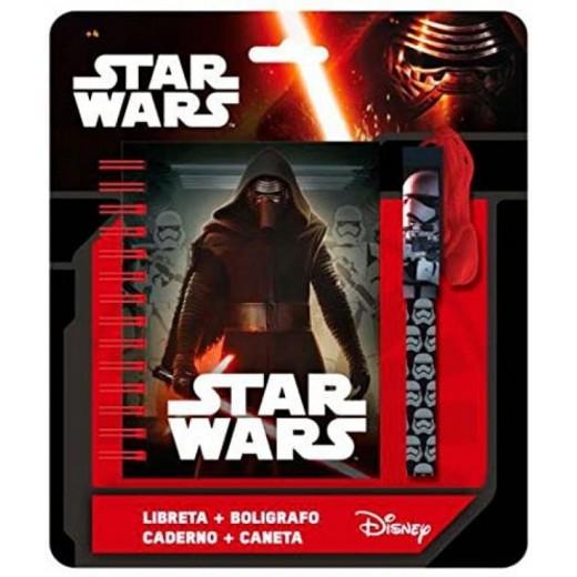 Libreta pequeña de Star Wars con bolígrafo cuaderno Episodio VII Kylo Ren