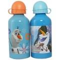 Botella aluminio de Olaf 500 ml cantimplora para agua Frozen Azul muñeco nieve
