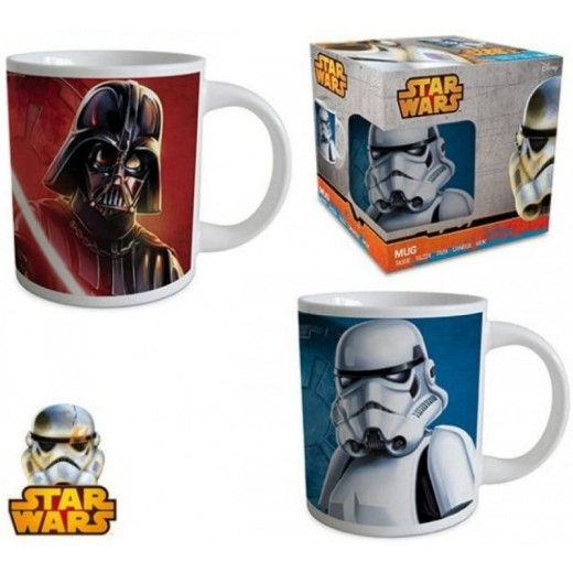 Taza de Star Wars Stormtrooper o Darth vader de cerámica 240 ml
