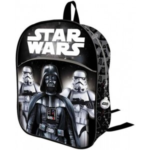 Mochila star wars negra de Darth Vader y Stormtrooper 3D relieve 32cm