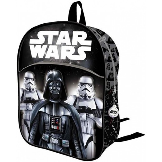 Mochila star wars negra de Darth Vader y Stormtrooper 3D relieve 32cm