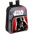 Mochila star wars negra y gris de Darth Vader con doble bolsillo 34 cm