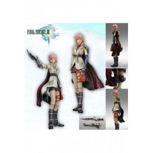 Figura Articulada de Lightning Final Fantasy XIII Play Arts en caja 23 cm