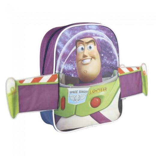 Mochila de Buzz Lightyear infantil de Toy Story con alas 31 cm para colegio