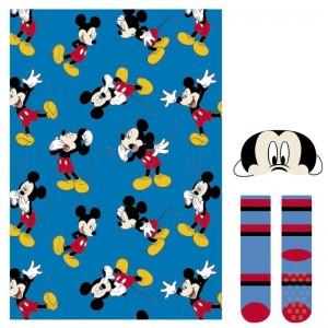 Set pack Invierno de Mickey Mouse manta calcetines y antifaz ideal regalo dormir