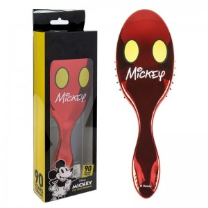 Cepillo Peine de Mickey Mouse para cabello pelo Rojo Brillante Caja puas suaves