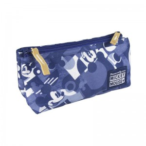 Estuche portatodo con 2 compartimentos de Mickey Mouse Azul colegio 23 cm