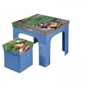 Set mesa con taburete plegable de Mickey Mouse Roadster Racers para niños azul