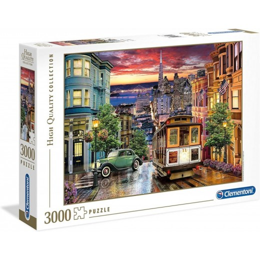 Puzzle San Francisco de 3000 piezas grande Ciudad colorida