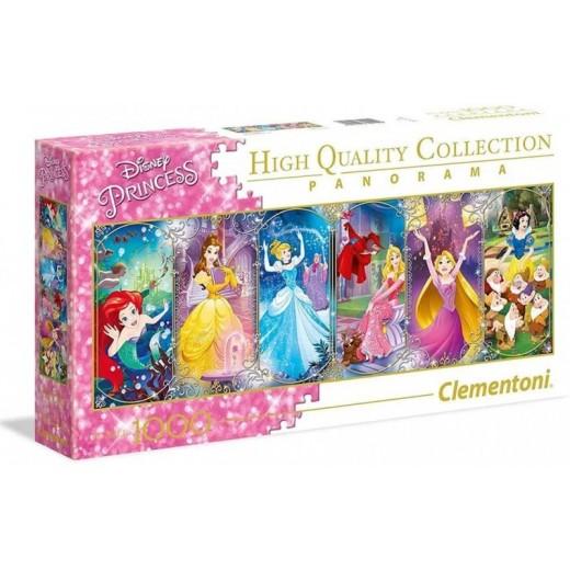 Puzzle de las princesas Disney Panorámico tipo panorama rosa largo 1000 piezas
