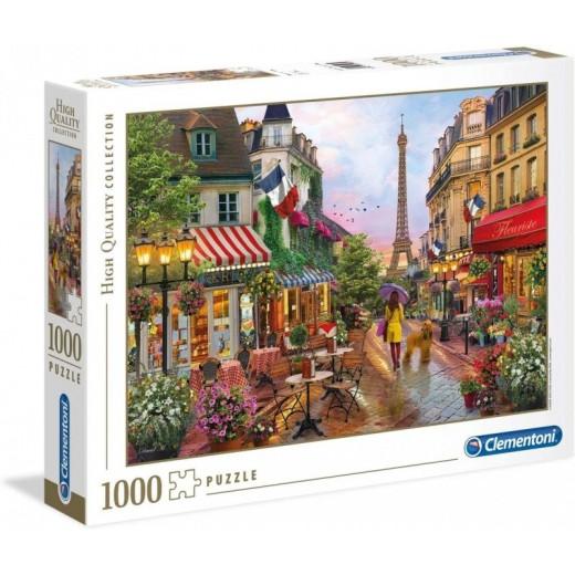 Puzzle de 1000 piezas flores en Paris torre Eiffel y paisaje bonito