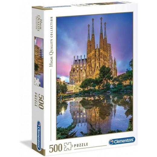 Puzzle de 500 piezas de La Sagrada Familia de Barcelona Iglesia Catedral