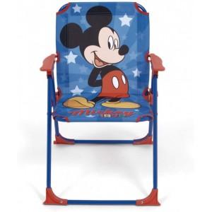 Silla plegable de Mickey Mouse en metal con dibujos para piscina playa azul