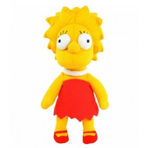 Peluche de Lisa Simpson Temporada 1 22 cm Original de los Simpsons